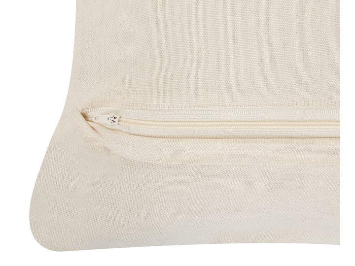 Dwie poduszki dekoracyjne beżowe makrama plecione 45 x 45 cm z wypełnieniem akcesoria boho retro salon sypialnia Bawełna 45x45 cm Poduszka dekoracyjna Kwadratowe Poliester Kolor Beżowy