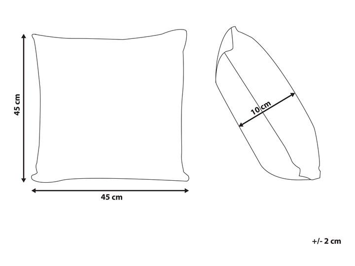 Poduszka dekoracyjna beżowa bawełniana z frędzlami 45 x 45 cm retro z wypełnieniem ozdobna akcesoria salon sypialnia Bawełna Kwadratowe 45x45 cm Kolor Beżowy