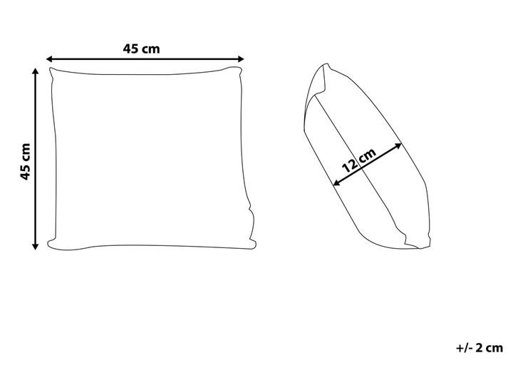 Zestaw 2 Poduszek dekoracyjnych granatowy welurowy nakrapiany 45 x 45 cm z wypełnieniem ozdobny akcesoria salon sypialnia Poszewka dekoracyjna Poliester 45x45 cm Kwadratowe Kategoria Poduszki i poszewki dekoracyjne
