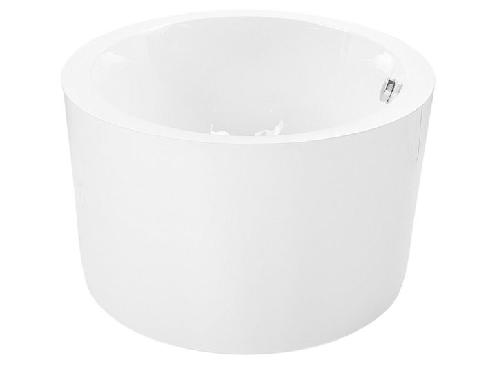 Wanna wolnostojąca biała akrylowa 170 x 105 cm system przelewowy owalna retro Wolnostojące Długość 170 cm Kolor Biały