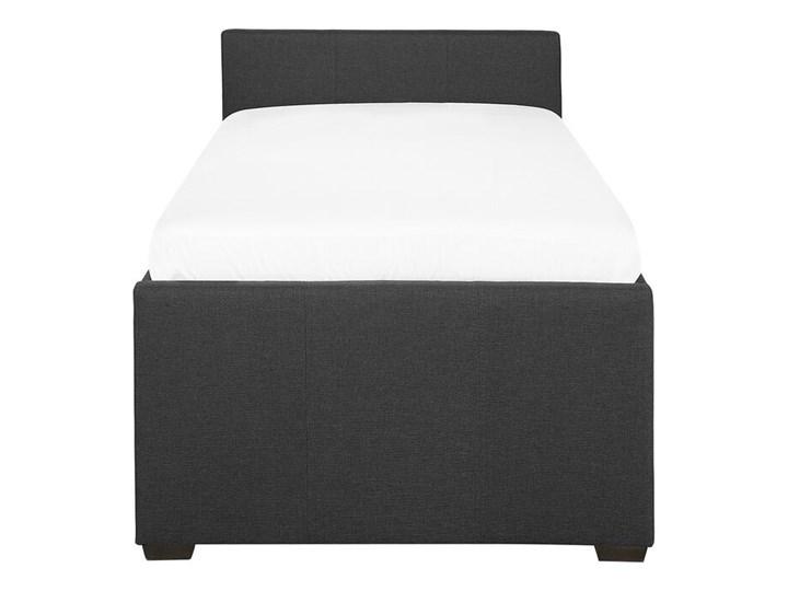 Łóżko dziecięce wysuwane ze stelażem ciemnoszare tapicerowane tkaniną 80 x 200 cm Kategoria Łóżka do sypialni Łóżko tapicerowane Kolor Szary