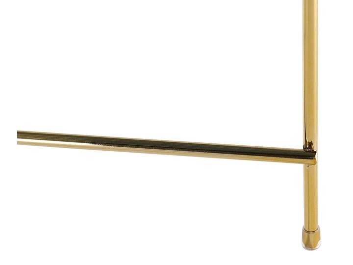 Stolik kawowy złotobrązowy blat z hartowanego szkła złote metalowe nogi okrągły glamour Wysokość 38 cm Szkło Kategoria Stoliki i ławy