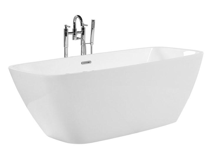 Wanna wolnostojąca biała akrylowa 170 x 78 cm nowoczesny wygląd Owalna Wolnostojące Symetryczne Długość 170 cm Kolor Biały