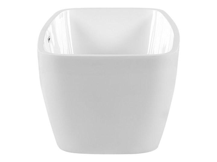 Wanna wolnostojąca biała akrylowa 170 x 78 cm nowoczesny wygląd Owalna Symetryczne Wolnostojące Długość 170 cm Kolor Biały