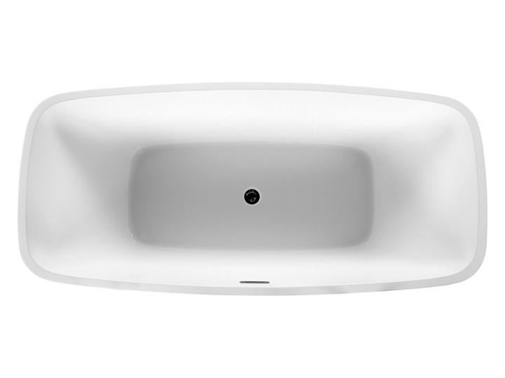 Wanna wolnostojąca biała akrylowa 170 x 78 cm nowoczesny wygląd Wolnostojące Owalna Długość 170 cm Symetryczne Kolor Biały Kategoria Wanny