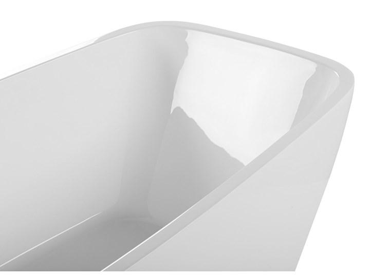 Wanna wolnostojąca biała akrylowa 170 x 78 cm nowoczesny wygląd Symetryczne Długość 170 cm Owalna Wolnostojące Kolor Biały