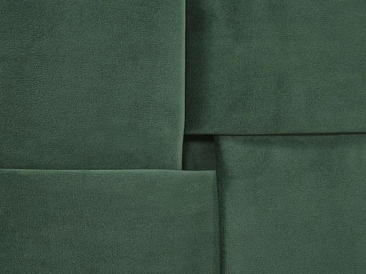 Łóżko welurowe zielone 160 x 200 cm tapicerowane złote nóżki wezgłowie oparcie glamour nowoczesne Łóżko tapicerowane Kolor Złoty Kolor Zielony