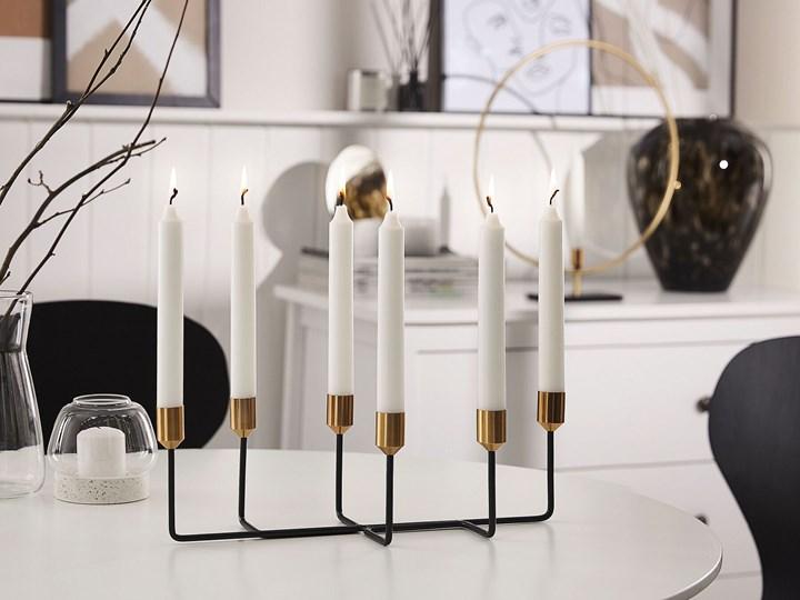 Świecznik czarny metalowy stojak na 6 świec dekoracja na stół nowoczesna Kategoria Świeczniki i świece