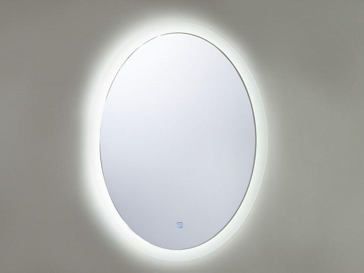 Lustro łazienkowe owalne srebrne 60 x 80 cm z podświetleniem LED system zapobiegający parowaniu Lustro bez ramy Ścienne Pomieszczenie Łazienka