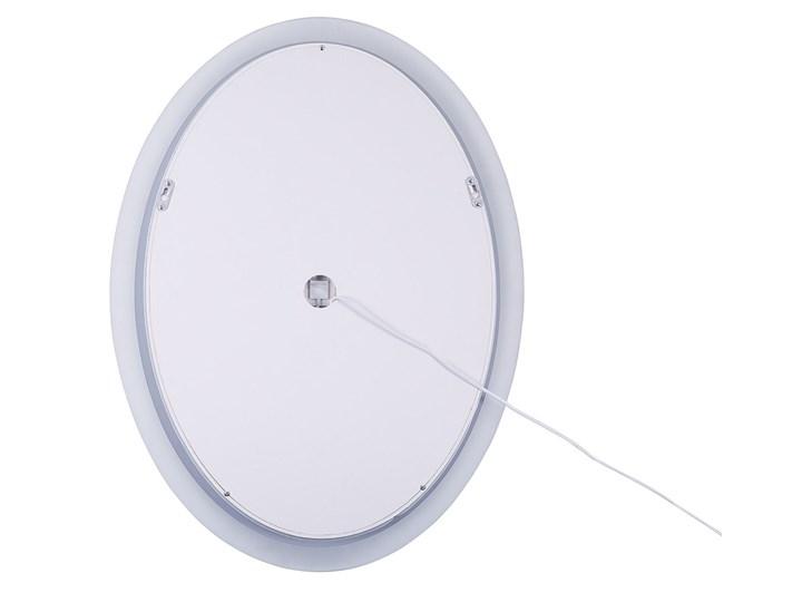 Lustro łazienkowe owalne srebrne 60 x 80 cm z podświetleniem LED system zapobiegający parowaniu Ścienne Lustro bez ramy Kategoria Lustra
