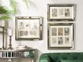 Multiramka srebrna lustrzana 49 x 44 cm na zdjęcia 5 fotografii 10 x 15 cm kolaż wisząca Kategoria Ramy i ramki na zdjęcia