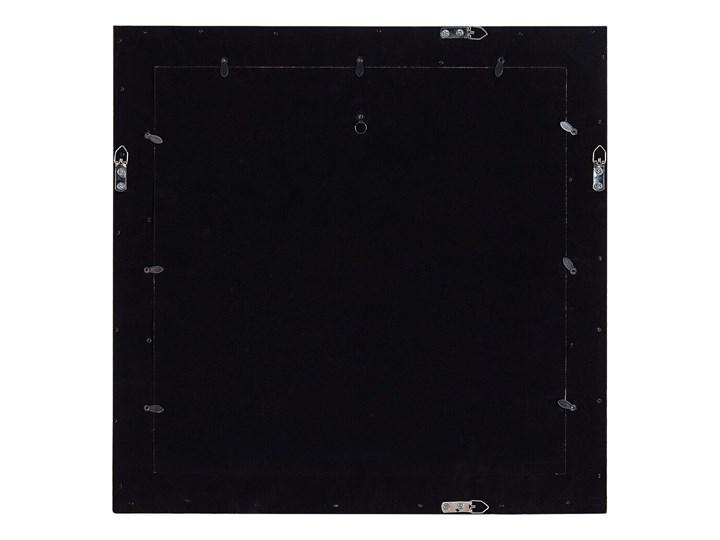 Multiramka ciemne drewno drewniana lustrzana 50 x 50 cm na zdjęcia 6 fotografii 10 x 15 cm kolaż wisząca Pomieszczenie Sypialnia