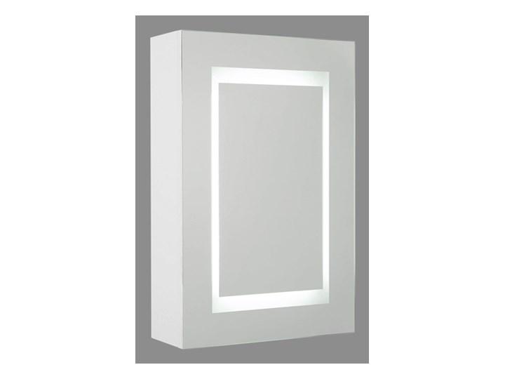 Szafka wisząca z lustrem i oświetleniem LED biała 40 x 60 cm nowoczesna Wiszące Szafki Szkło Szerokość 40 cm Głębokość 12 cm Płyta MDF Kolor Biały
