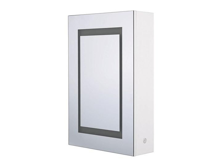Szafka wisząca z lustrem i oświetleniem LED biała 40 x 60 cm nowoczesna Szerokość 40 cm Szafki Płyta MDF Wiszące Szkło Głębokość 12 cm Kolor Biały