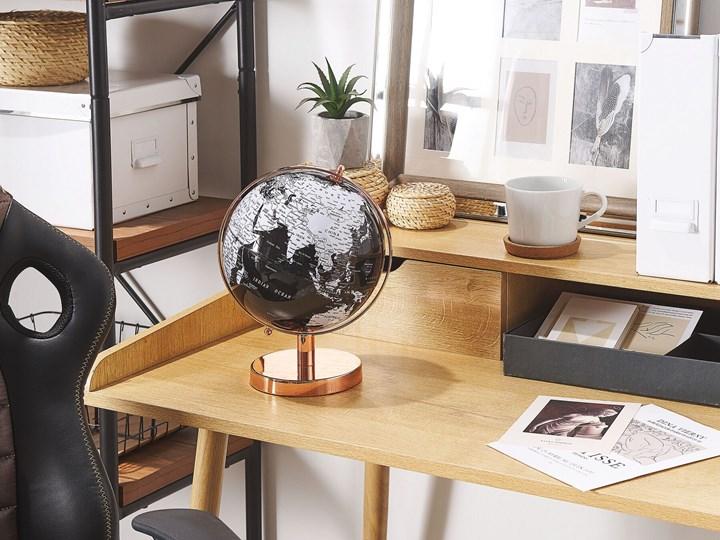Figurka dekoracyjna globus biały i czarny 20 cm Metal Globusy Kategoria Figury i rzeźby