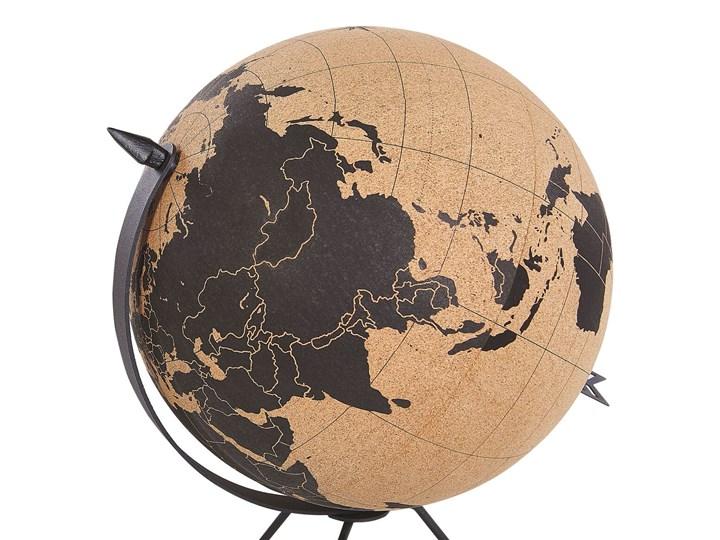 Figurka dekoracyjna globus brązowy korek 25 cm Metal Globusy Kategoria Figury i rzeźby