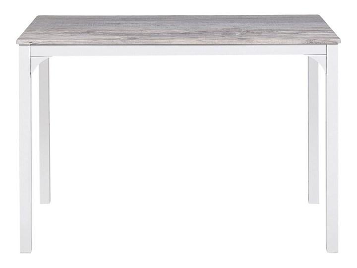 Zestaw do jadalni stół 110 x 70 cm i 4 krzesła szary z białą stalową ramą styl nowoczesny Pomieszczenie Jadalnia Kategoria Stoły z krzesłami