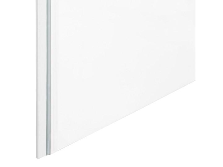 Kabina prysznicowa srebrna szkło hartowane aluminum pojedyncze drzwi 70 x 70 x 185 cm nowoczesny design Kwadratowa Kategoria Kabiny prysznicowe Kolor Przezroczysty