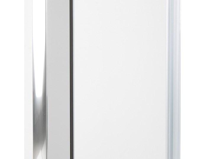 Kabina prysznicowa srebrna szkło hartowane aluminum podwójne drzwi 80x80x185cm nowoczesny design Kwadratowa Rodzaj drzwi Rozsuwane