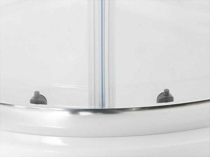 Kabina prysznicowa srebrna szkło hartowane aluminum podwójne drzwi półokrągłe 90x90x185cm nowoczesny design Narożna Rodzaj drzwi Rozsuwane