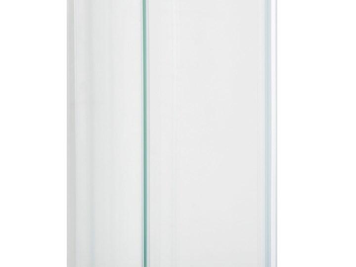 Kabina prysznicowa srebrna szkło hartowane aluminum podwójne drzwi półokrągłe 80x80x185cm nowoczesny design Narożna Kategoria Kabiny prysznicowe