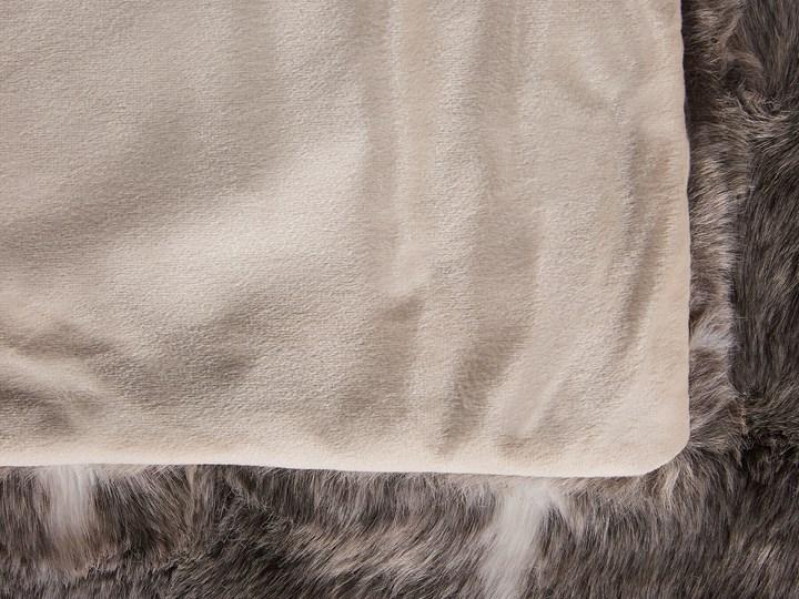 Koc brązowo-biały akrylowy 150 x 200 cm gruby retro styl dekoracje do salonu dodatki Poliester 150x200 cm Kolor Brązowy
