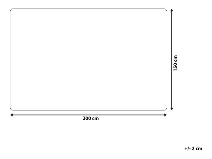 Koc brązowo-biały akrylowy 150 x 200 cm gruby retro styl dekoracje do salonu dodatki Poliester Kolor Brązowy 150x200 cm Pomieszczenie Sypialnia