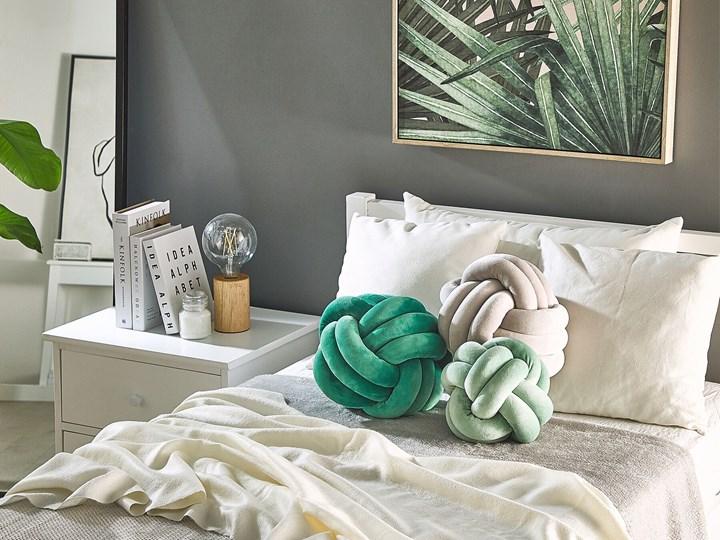 Poduszka dekoracyjna butelkowa zieleń supeł 30 x 30 cm akcesoria salon sypialnia Poliester 30x30 cm Kategoria Poduszki i poszewki dekoracyjne