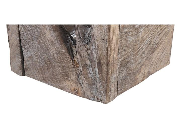 Zestaw 2 świeczników ciemne drewno postarzony ręcznie wykonany naturalny rustykalny Kategoria Świeczniki i świece Kolor Brązowy