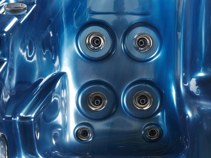 Wanna ogrodowa niebieska akrylowa zewnętrzne spa z LED i hydromasażem Kategoria Jacuzzi
