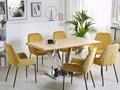 Stół do jadalni jasne drewno srebrny MDF stal nierdzewna 160 x 90 cm nowoczesny Płyta MDF Długość 160 cm  Pomieszczenie Stoły do salonu