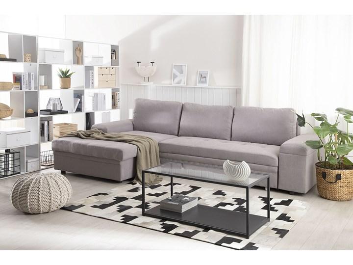 Narożnik rozkładany jasnoszary sofa narożna do salonu kanapa z funkcją spania z pojemnikiem skandynawska Funkcje Z pojemnikiem na pościel W kształcie L Kategoria Narożniki