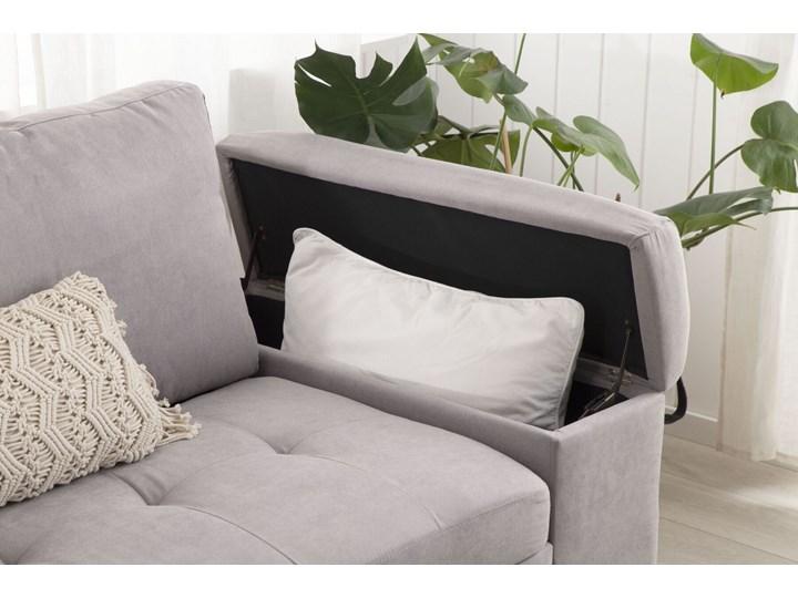 Narożnik rozkładany jasnoszary sofa narożna do salonu kanapa z funkcją spania z pojemnikiem skandynawska W kształcie L Kategoria Narożniki