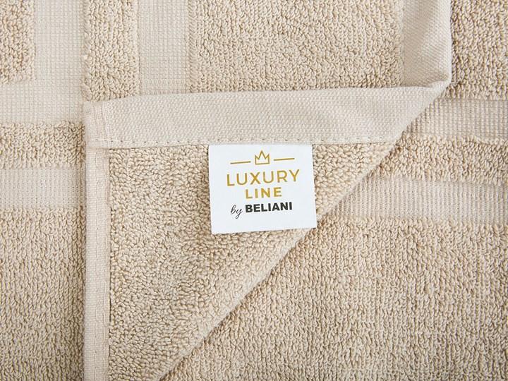 Komplet 9 ręczników beżowy bawełna low twist ręczniki dla gości do rąk kąpielowy i mata łazienkowa Komplet ręczników Ręcznik do rąk Ręcznik kąpielowy