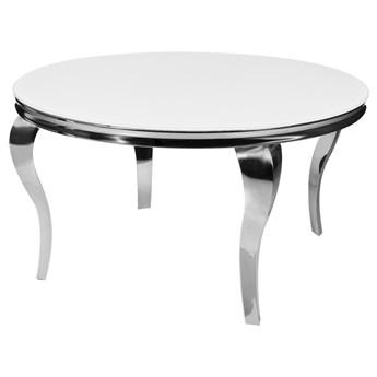 Okrągły biały stół glamour Ø120x75 cm TH306-6/TH780-6