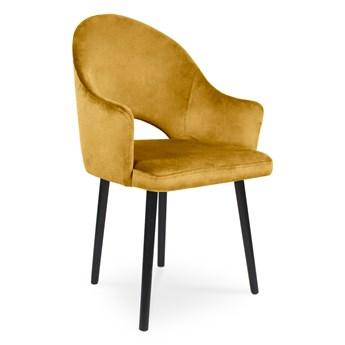 Bettso Krzesło tapicerowane BARI miodowy / KR01