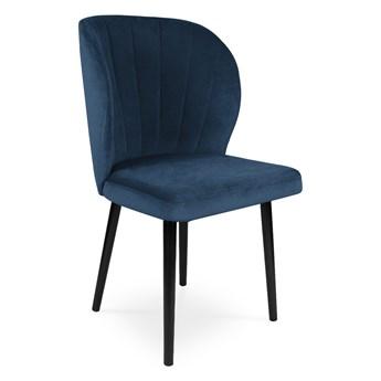 Bettso Krzesło tapicerowane SANTI velvet granatowy / KR09