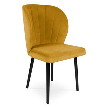 Bettso Krzesło tapicerowane SANTI velvet miodowy / KR01