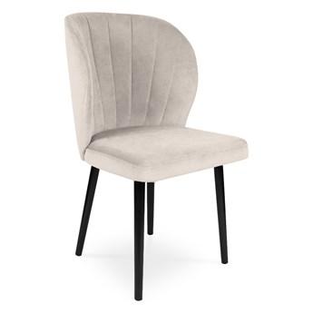 Bettso Krzesło tapicerowane SANTI velvet beżowy / PA02
