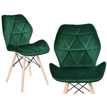 Krzesło welurowe K-RENNES ciemno-zielony