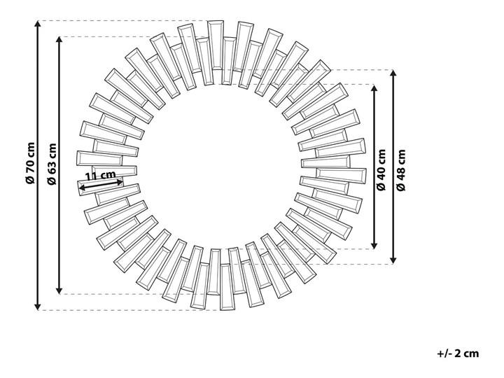 Lustro srebrne okrągłe słońce kształt nowoczesne salon przedpokój Kolor Srebrny Ścienne Lustro bez ramy Styl Nowoczesny