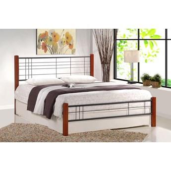 Łóżko Mikeo 180x200 cm - czereśnia ant. + czarny