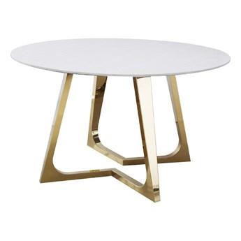 Stół okrągły marmurowy Veneto Złoty/Biały