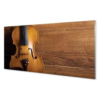 Obrazy akrylowe Skrzypce na drewnie