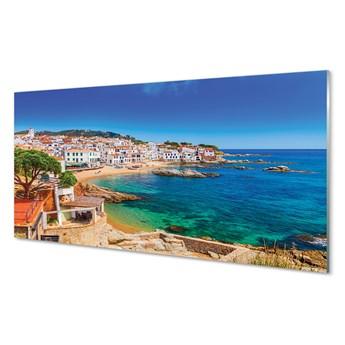 Obrazy akrylowe Hiszpania Plaża miasto wybrzeże