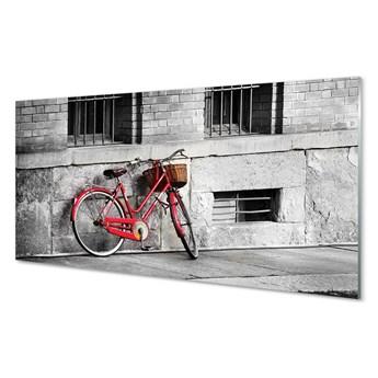 Obrazy akrylowe Rower czerwony z koszykiem