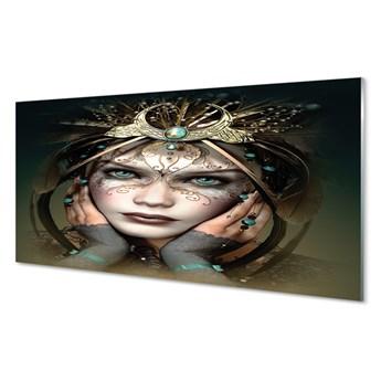 Obrazy akrylowe Kobieta niebieskie oczy