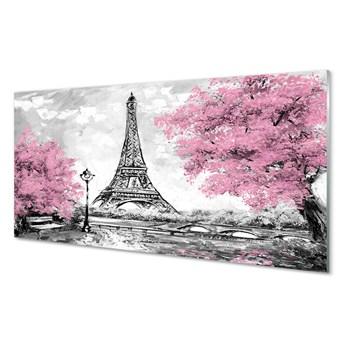 Obrazy akrylowe Paryż drzewa wiosna