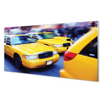 Obrazy akrylowe Żółta taxi miasto
