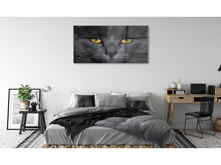 Obrazy akrylowe Czarny kot Wzór Zwierzęta